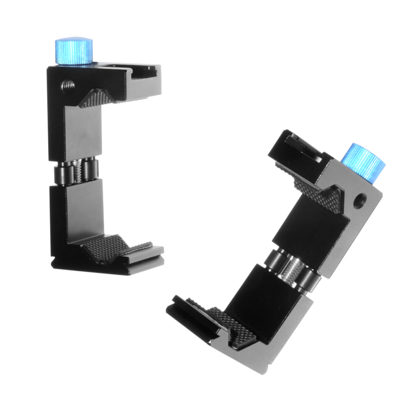 Aluminum Metal Smartphone Tripod Mount with Cold Shoe Mount Cell Phone Tripod Adapter Clip Holder for