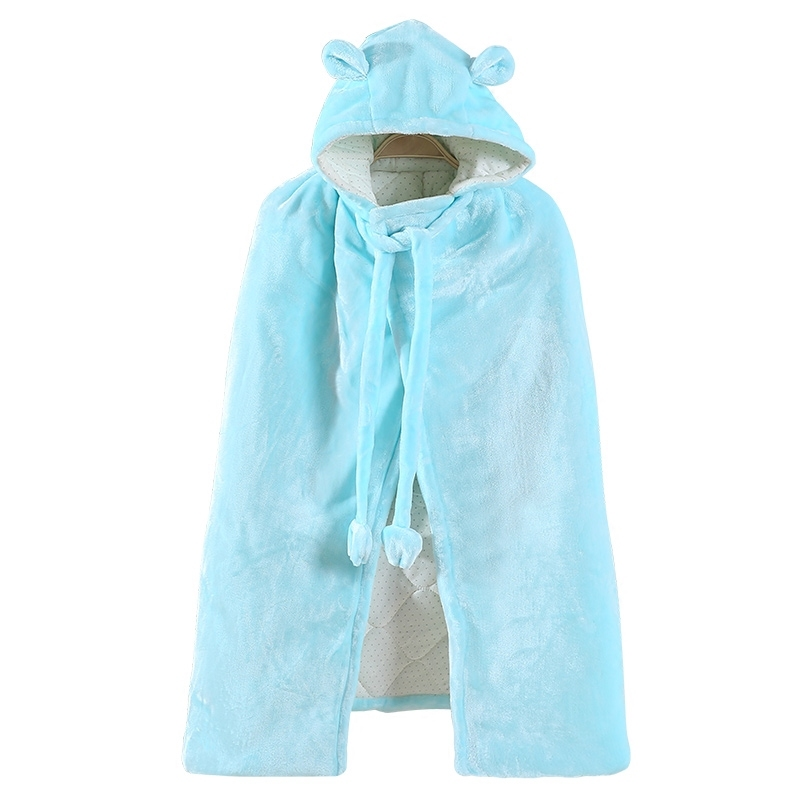 Autumn Winter Hooded Baby Blankets Super Soft Thick Bathrobe Cloak Newborn Swaddle Baby Boys Girls Cotton Cloak Warm Shawl 0-5Y цена