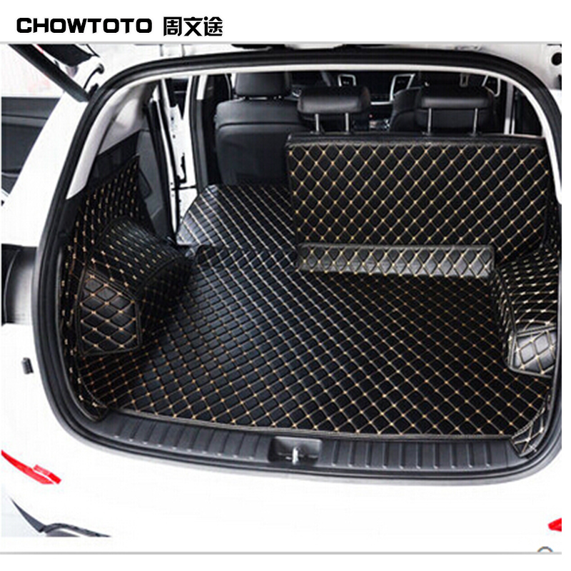 CHOWTOTO Custom Special Trunk Mats For Hyundai ix35 Durable Wear-resisting Non-slip Boot Carpets For Ix35 Lagguge Pad