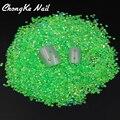 2016 nova moda 2000 pçs/saco 2 MM luz geléia verde AB cor resina Nail Art brilho strass prego ferramentas decoração DIY