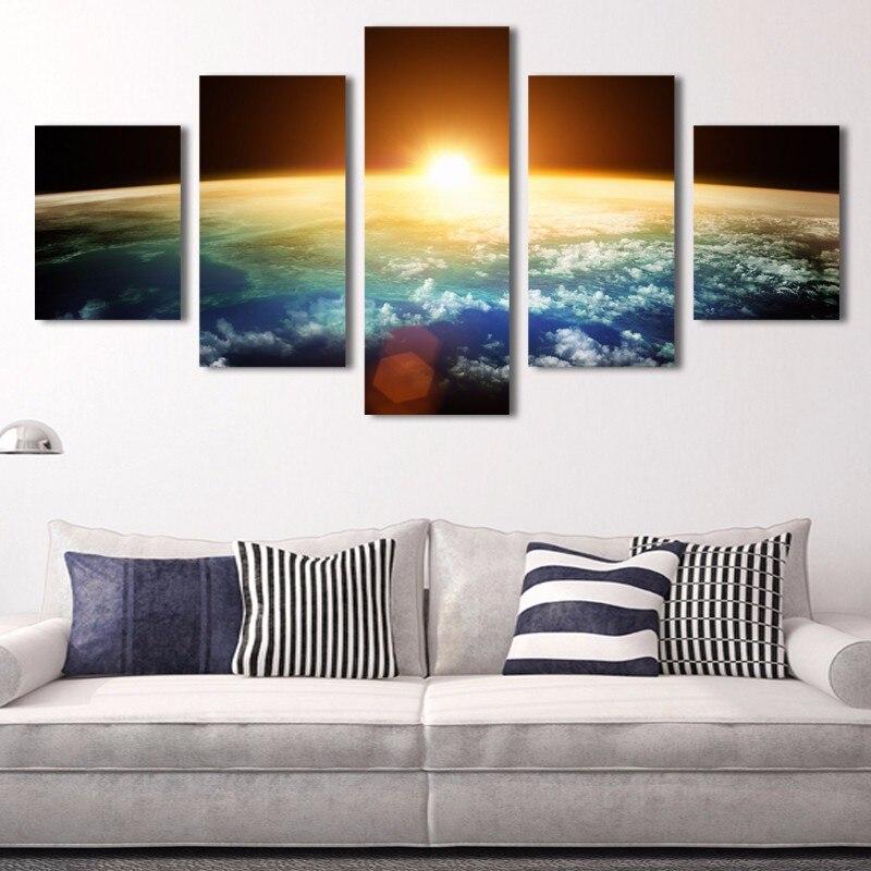 NOVÉ kombinace jasný tisk simulace olejomalba obývací pokoj zdobí obrazy krajinomalby zdobí umění 1168056H + M