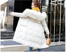 Brieuces Warm thicken Artificial fur hooded women winter jacket cotton padded outerwear female parka long coat two side wear 2018 winter maternity hooded coat women thicken warm long jacket pregnancy cotton padded outerwear parka
