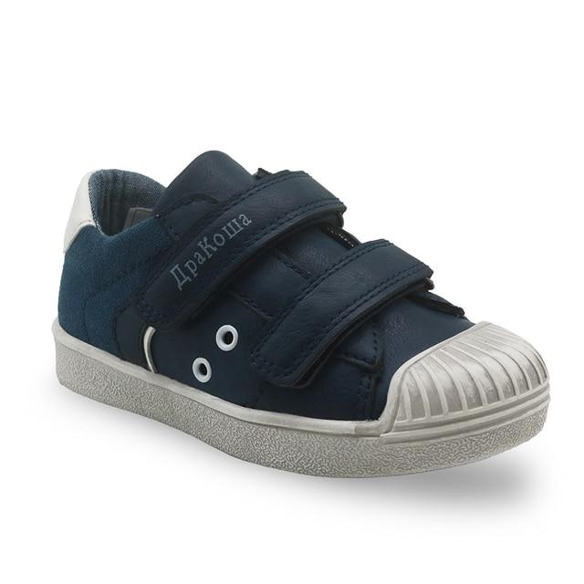 Apakowa новая детская обувь для мальчиков повседневная беговая Обувь Hook & Loop модные спортивные мальчики кроссовки Резиновые Детская школьная обувь Размер 25-30