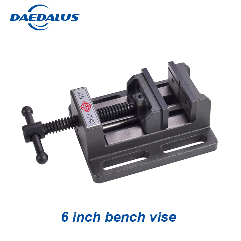 Milling vise 6'' bench vise drill Fixture worktable vise table vise for CNC Clamp Firmly Woodworking hand tool 2 5 inch bench vise table flat clamp on plier drilling press milling machine clamping clamp firmly woodworking hand tool