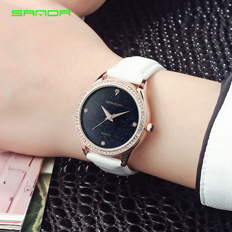 Sanda Women 2018 Top Brand Watches Fashion Luxury Ladies Reloj Simple - Relojes para mujeres