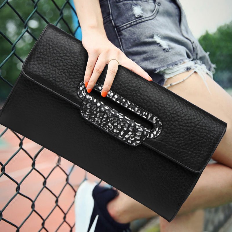 Fashion Genuine Leather Envelope Clutch Bag Solid Color Cover Soft Top Leather Women Banquet Crossbody Shoulder Bags Big Purses fashion solid color soft genuine leather top handle bag stone texture cowhide zipper cover women handbag shoulder crossbody bags
