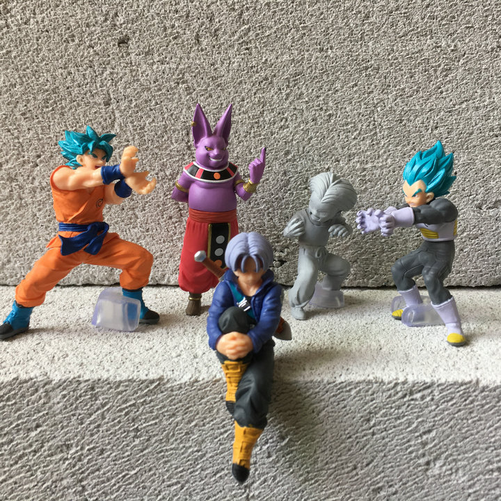 Genuine Bulk Bandai Anime Dragon Ball Z Super Goku PVC Action Figure Figures Model Toys(China)
