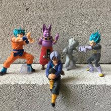 Genuine Bulk Bandai Anime Dragon Ball Z Super Goku PVC Action Figure Figures Model Toys цена и фото