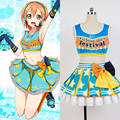 LoveLive! Love Live Rin Hoshizora Cheerleaders Women Summer Style Uniform Dress Swimsuits Halloween Pary Club Cosplay Costume