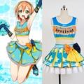 LoveLive! love live hoshizora rin uniforme de porristas mujeres del estilo del verano dress pary club de trajes de halloween cosplay