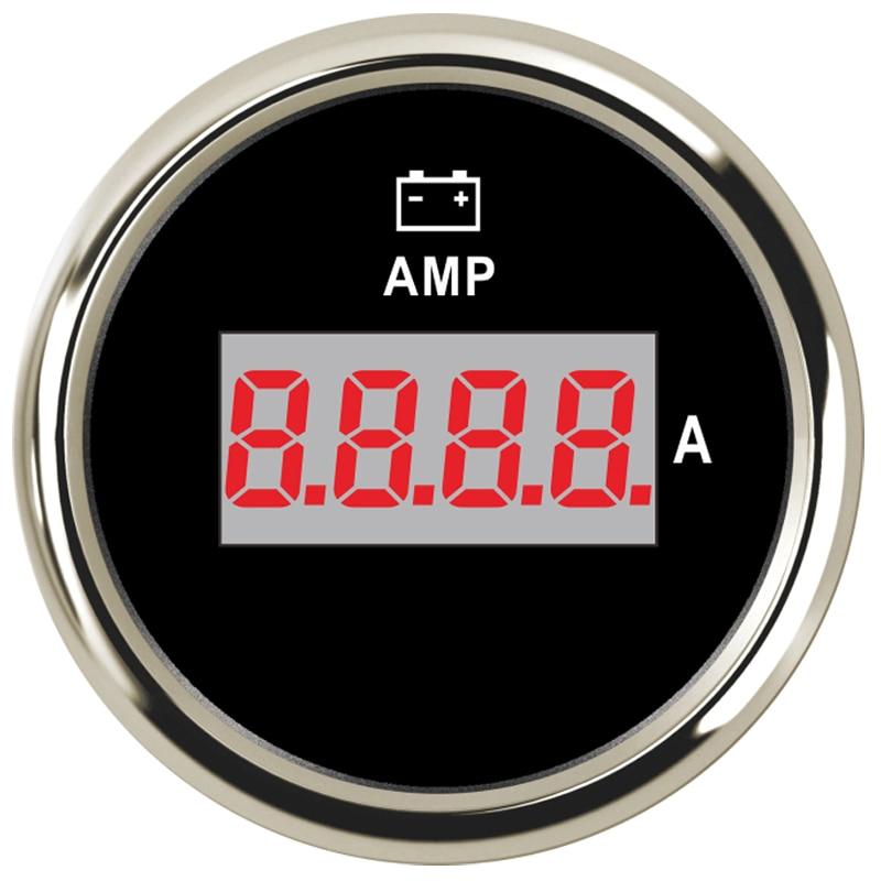 52mm Marine Digital Amperemeter AMP Gauge 12V 24V For Car Motorcycle Truck Boat Yacht with Current Sensor +/- 150A marine 52mm ammeter amp gauge with current sensor for motorcycle car marine boat yacht with backlight 12v 24v 150a 80a