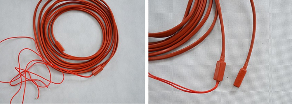 3M 120W  220V Drain pipe defrosting heating line, silicone heater for Refrigeration House Cold Storage Water Draining Defroster 2pcs lot for samsung double door refrigerator defrosting temperature sensor 5k defrosting insurance