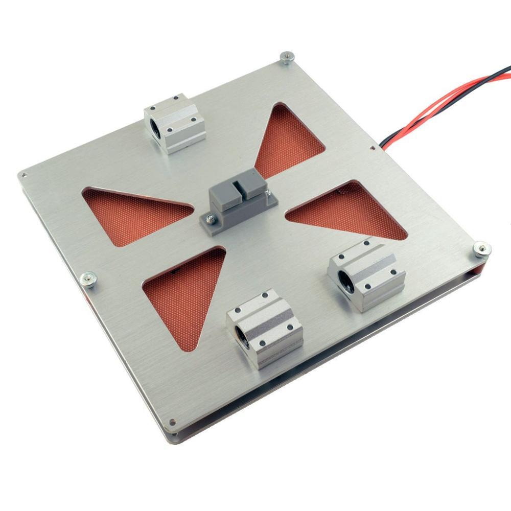 Funssor V2 Alloy Build Plate 12V 120W Heater Prusa i3 Y Carriage Bearings full kit  For DIY Prusa I 3  printer