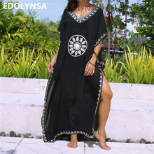b969899d6bc39 EDOLYNSA Embroidery Cotton Saida de Praia Swimsuit Women Bikini cover up.  US $13.33 / piece Free Shipping