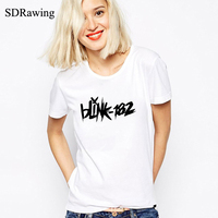 Hot Sale Women T Shirts Blink 182 Printed Costume T Shirts Summer Male O Neck Short