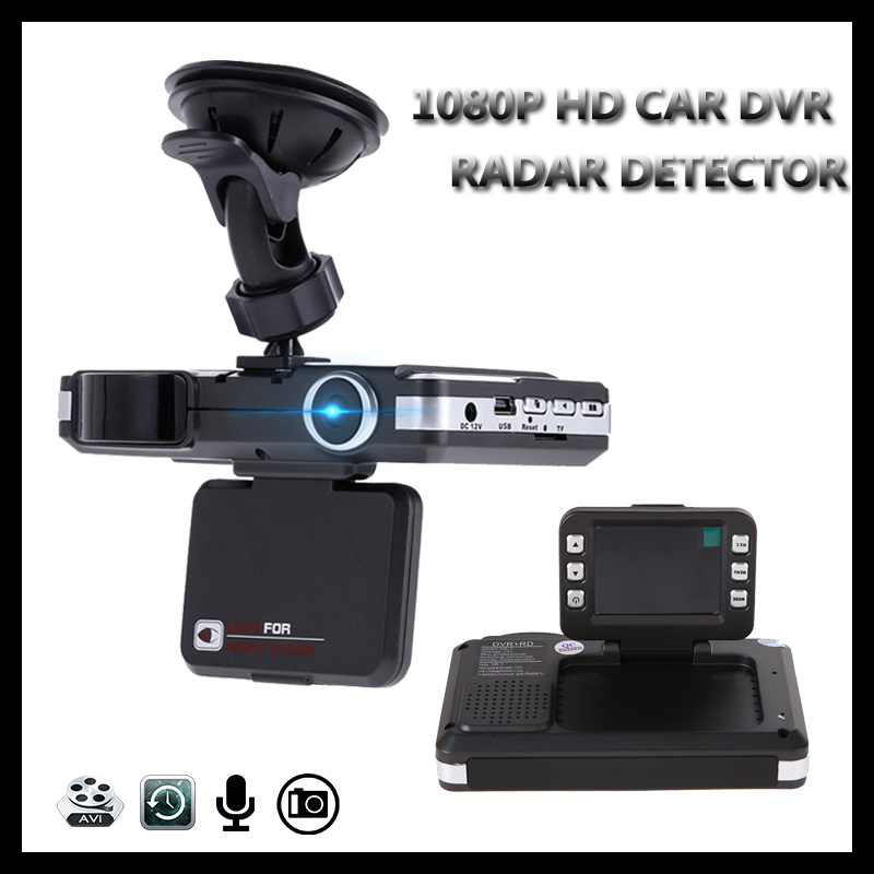 2 in 1 Car DVR Radar Detector 1080P HD Dash Cam Night Vision Car Camera Recorder G-sensor Video Registrator Motion Detection