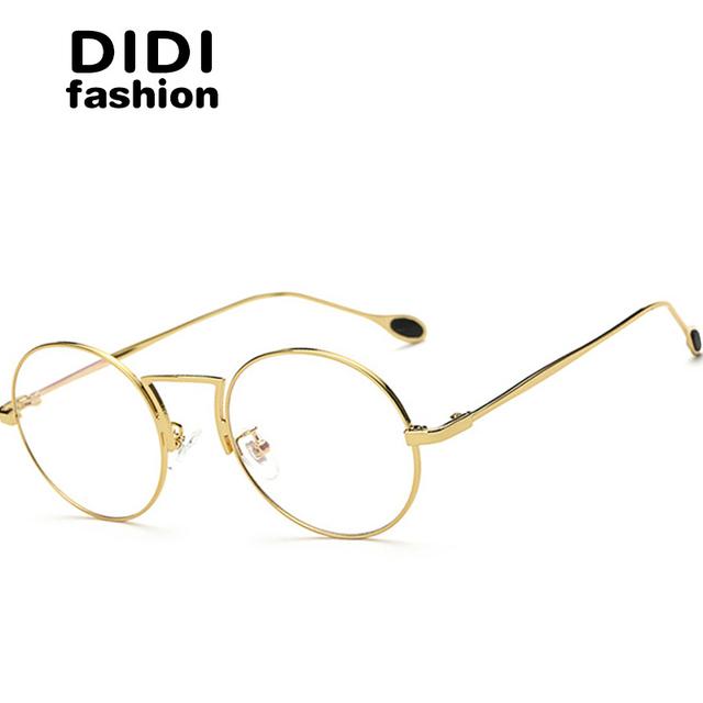 DIDI Amantes Coréia Pequeno Óculos Redondos Óculos de Armação Anti Blue Ray Óculos De Computador Retro Óculos de Armação de Óculos de Marca óculos de sol Luneta U523