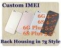 Пользовательские IMEI Полный шасси реплики Для iphone 6 6 S как 7 7 Г fundas Назад жилье 6 6 Г 6 S Плюс 7 стиль крышка батарейного отсека корпус