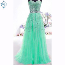 Ameision New strapless Evening Dress Sexy Tulle Long Prom Gown Custom Party Formal Dresses summer women dreass new arrival