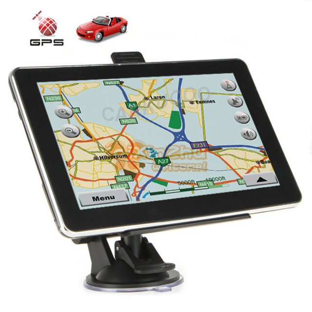 Automobile 7 Inch Car GPS Navigator 128MB 800MHZ FM Wince6.0 Free Map For Russia Ukraine Europe US CA Car GPS Navigation Sat Nav