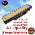 Nuevos 6 celdas de la batería del ordenador portátil para LENOVO IdeaPad Y470 Y570 Y570A 57Y6625 57Y6626 L10C6F01 L10P6F01 L10S6F01 envío gratis