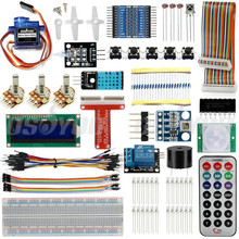 Raspberry Pi 3 Starter Kit Ultime Se Pencher Suite HC-SR501 Capteur de Mouvement 1602 LCD SG90 Servo LED Relais Résistances