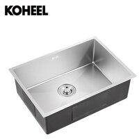 Кухонная раковина undermount ручной работы brushed seamless 304 нержавеющая сталь один чаша большая мыть посуду K3