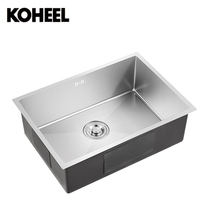 Kitchen Sink Undermount Handmade Brushed Seamless 304 Stainless Steel Single Bowl Drawing Drainer Welding Sinks Big