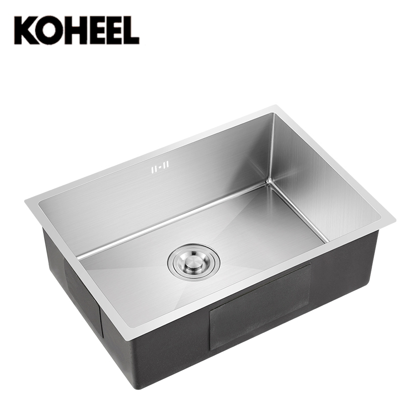 kitchen sink undermount Handmade brushed seamless 304 stainless steel single bowl big wash dishes K3 free shipping ciencia stainless steel brushed nickel undermount double bowl handmake kitchen sink with faucet for kitchen