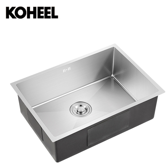 Good Kitchen Sink Undermount Handmade Brushed Seamless 304 Stainless Steel Single  Bowl Big Wash Dishes K3