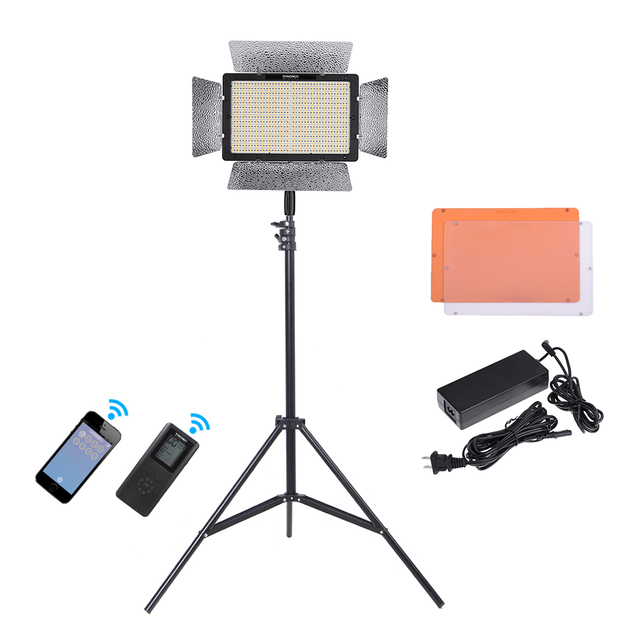 Exceptional YONGNUO YN1200 5500K LED Video Light With 2Pcs CT Filters Remote Controller  With 2m Light Stand