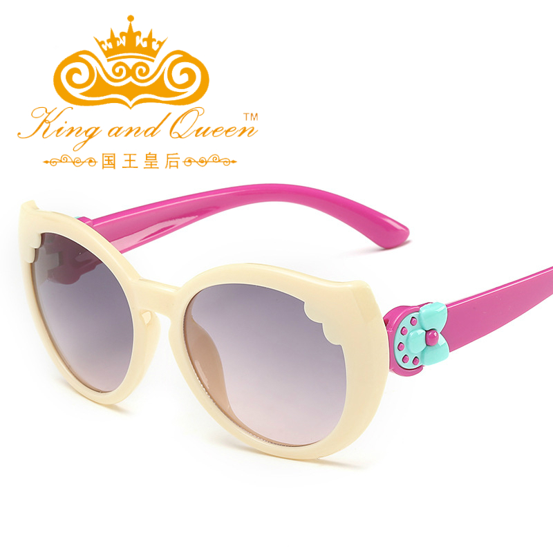 Kid Sunglasses Children Fashion Designer Brand Plastic Plastic Frame Girl Anti UV Protection Flexible Rubber Girls Sunglasses