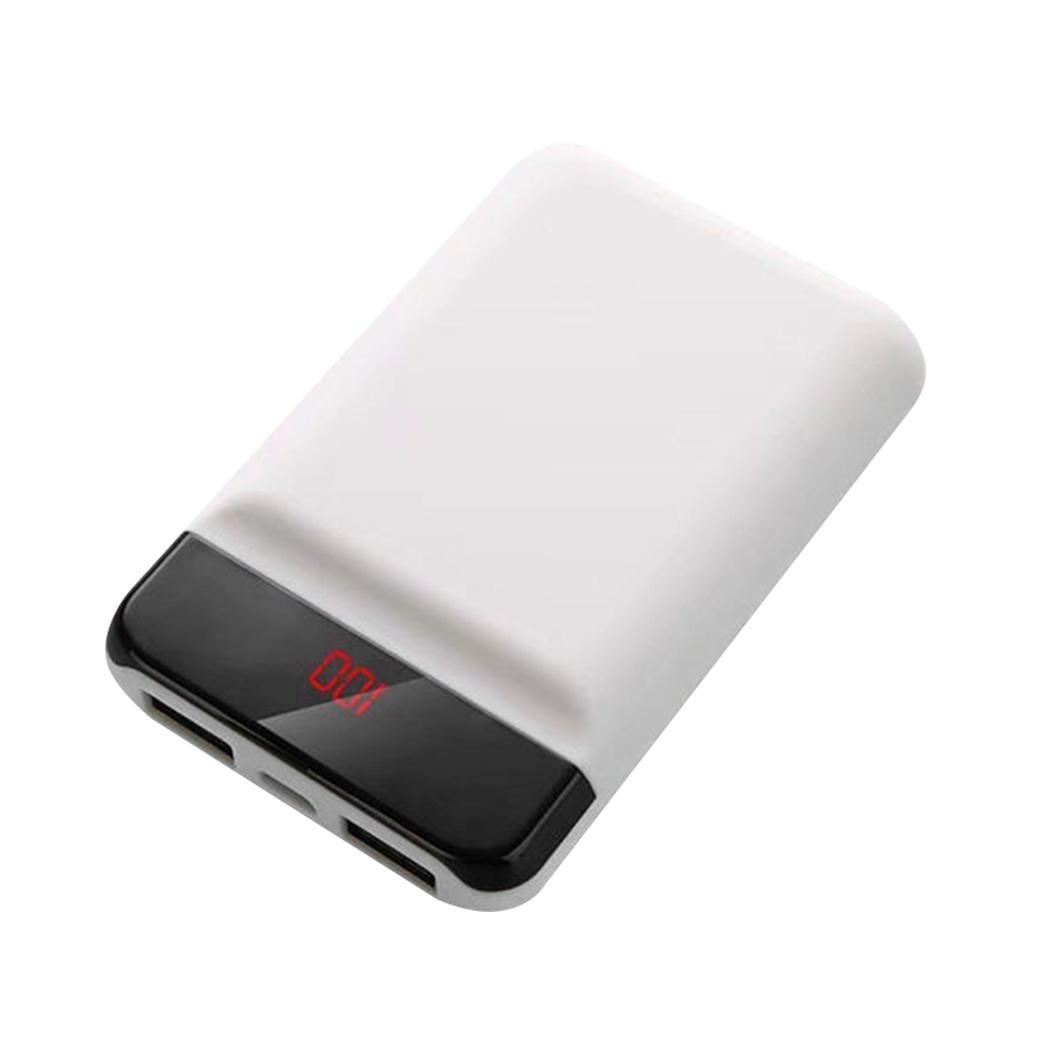 10000mAh Portable USB External Battery Charger Power Bank For 5V/2A Phone White, PInk, Blue, Black usb battery bank charger
