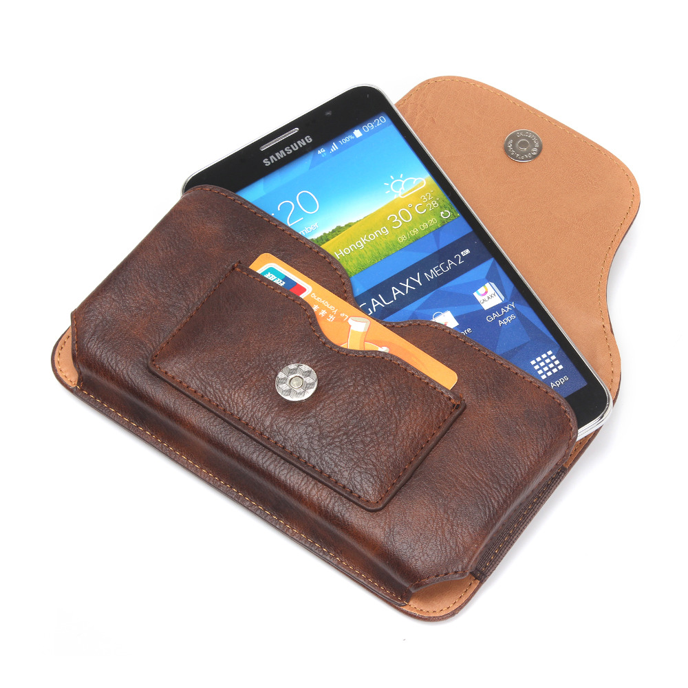 6 3 inch Universal Mobile Phone Bag Outdoor PU Leather Bag Loop Belt Pouch Holster Cover