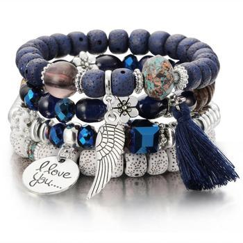 Women's Boho Style Stone Charm Bracelet Bracelets Jewelry New Arrivals Women Jewelry Metal Color: SL1029