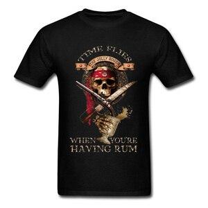 Мужская футболка с принтом в виде пиратского черепа, футболка из 100% хлопка с принтом в виде персонажа Луффи, футболка для фитнеса XS