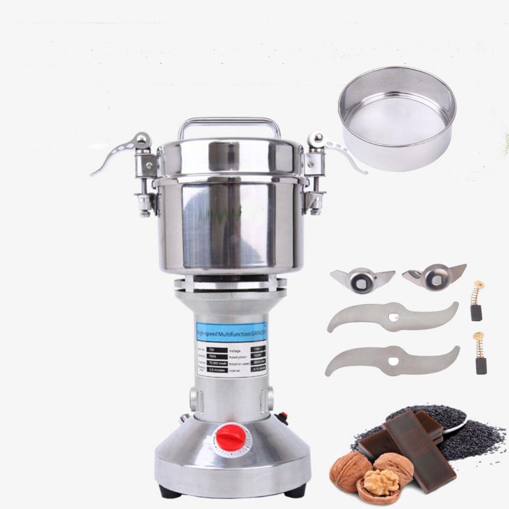 купить 700g High Speed Electric Grinding Grinder Powder Medicinal Herb Cereal Machine по цене 4678.81 рублей