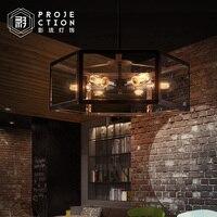 Archaistic прозрачная стеклянная коробка абажур Ретро Лофт винтажная Подвесная лампа столовая Ресторан лампа Эдисона лампа