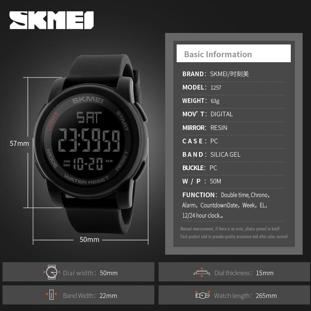 SKMEI Hodinky Sportovní hodinky Double Time Countdown 50M Vodotěsné ... 4056f7db77