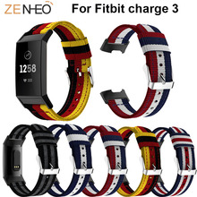 лучшая цена High Quality Nylon Wristband Bracelet Wrist Strap for charge 3 smart watch Band Replacement watches Strap For Fitbit Charge 3