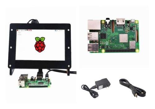 Raspberry Pi 3 B + Starter Kit 7 pouce 1024x600 Affichage + Cas + Adaptateur + HDMI câble