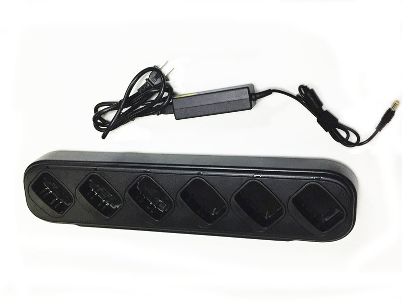 6 And 1 Charger Connected For Motorola GP140 GP240 GP280 GP320  GP340  GP360  GP380 GP540  GP580 GP640 GP680 Radios