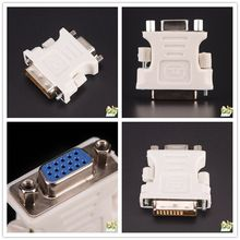 1 piezas 24 + 1 Pin DVI-D-D-M a VGA-F adaptador-Adaptador de 25 pines (Dual Link) DVI-D macho a 15 pines VGA hembra Video Monitor adaptador(China)