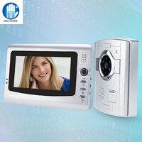OBO Hands 7 Inch Color Video Doorphone Sperakerphone Intercom System 1 Monitor 700TVL COMS Video Camera