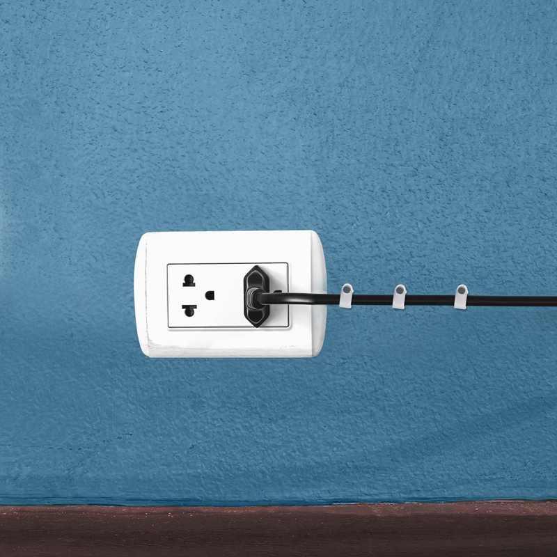 300 Buah Kabel Staples Klip Dinding Kuku Perlengkapan untuk Kabel Ethernet Rg6 Rg59 Cat5 Cat6 Rj45 TV Kawat kabel 7 Mm Putih