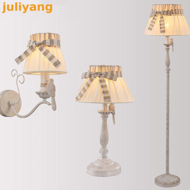 E HOME Creative detachable cloth shade new garden led chandelier romantic French bird chandelier