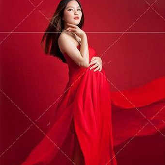 Clobee 2019 Summer Large Size Red Photography Props Maternity Dress Shoulderless Full-Lenght Split Gown Pregancy Photo Shoot S29