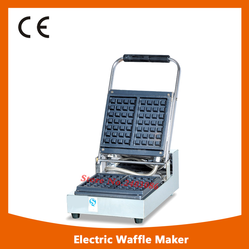 KW-U1B stainless steel square shape  waffle maker machine for snack equipment fast food leisure fast food equipment stainless steel gas fryer 3l spanish churro maker machine