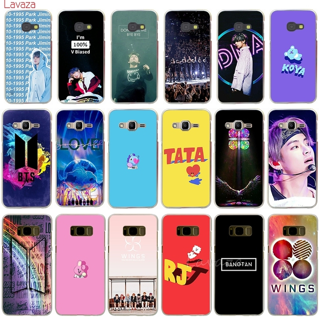 newest 4bd89 556fd US $1.96 27% OFF|Lavaza Bangtan Boys BTS BT21 Hard Phone Case for Samsung  Galaxy Note 8 Grand Prime A5 2017 A8 2018 Cover-in Half-wrapped Case from  ...