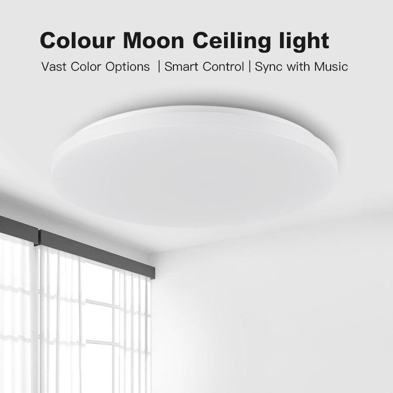 Современный светодиодный умный потолочный светильник с управлением через приложение RGB затемнение 36W48W Bluetooth динамик AC85V 265V, светодиодный потолочный светильник s - 2